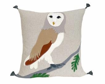 Barn Owl - Beige + White