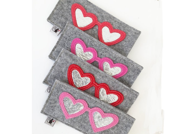 Valentine's Hearts Eyeglass Case image 0