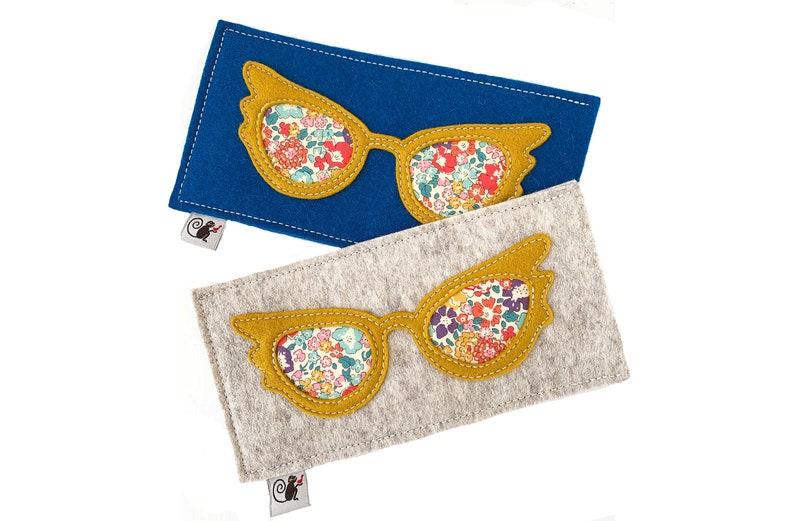 Glam Eyeglass Case  Gold  Oatmeal image 0