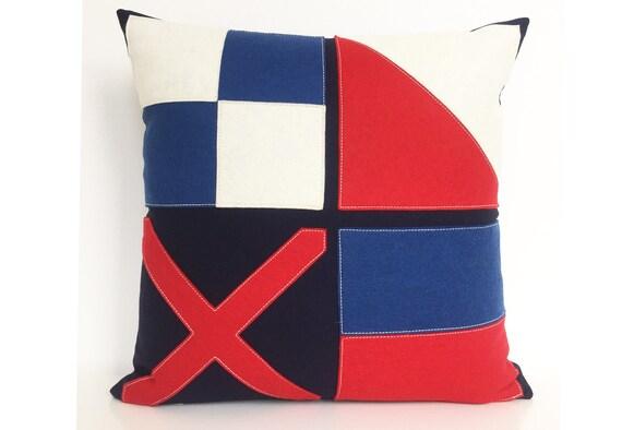 Nautische vlag love kussen in rood wit en blauw etsy