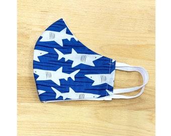 Cotton Mask - Blue Sharks