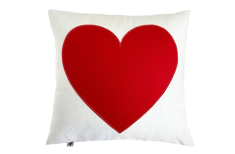 Big Heart  Red on Creamy White image 0
