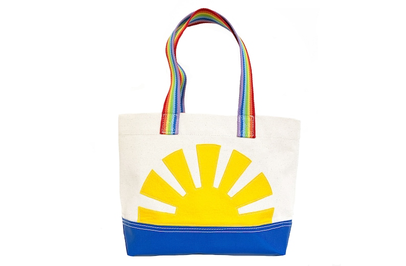 Sunshine Tote  Yellow  Rainbow image 0
