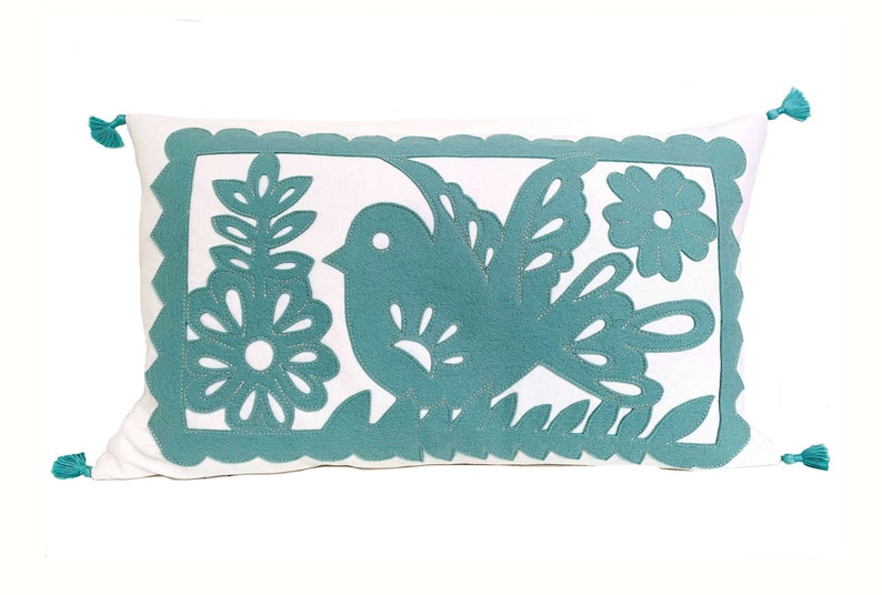 Mexican Garland  Seafoam  White image 0