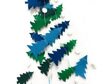 Garland Winter Pines - Blue + Green