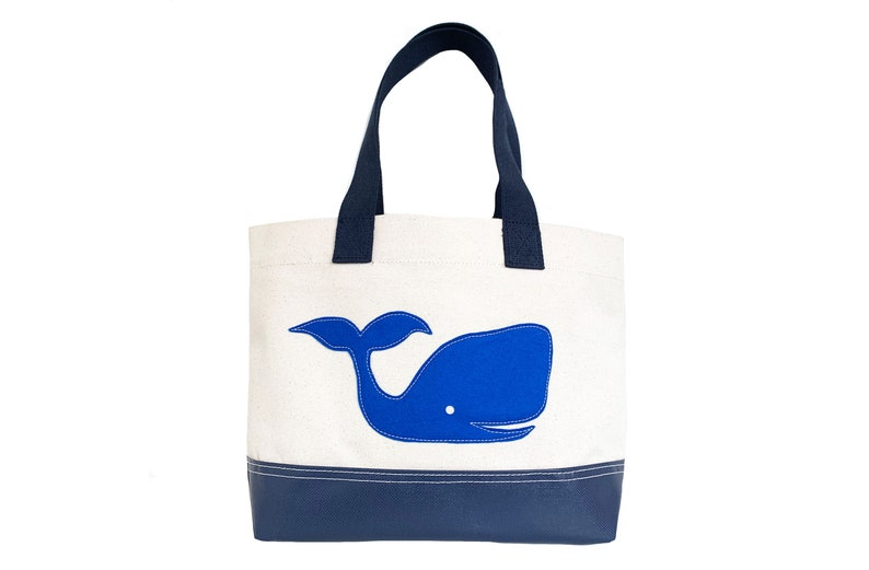 Whale Tote  Blue  Natural image 0