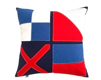L-O-V-E Nautical Flag - Red + Blue