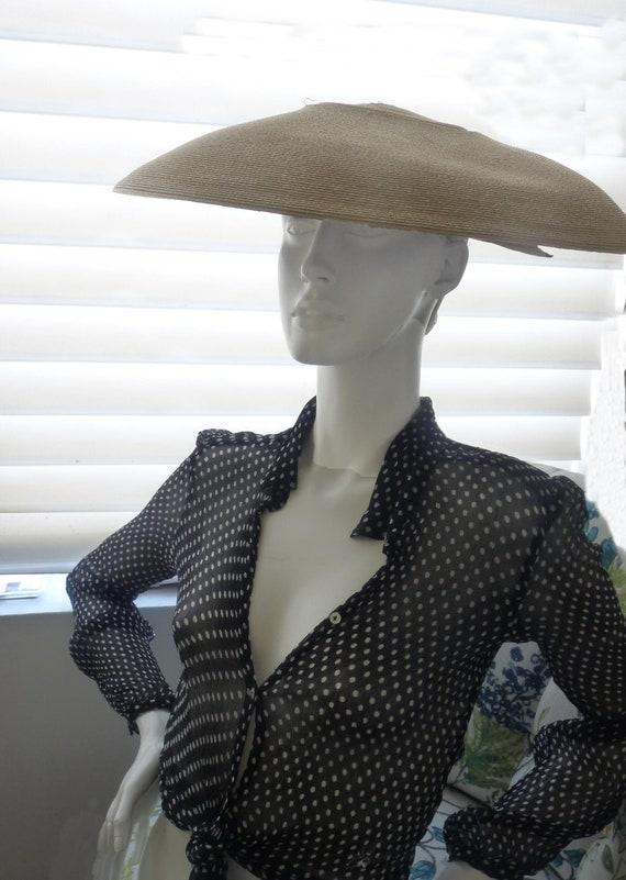Frank Olive hat 1952 wide brim Neiman Marcus sauce