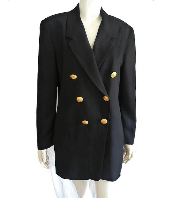 Mondi jacket Black Blazer 38 Mondi 1980s logo Gold