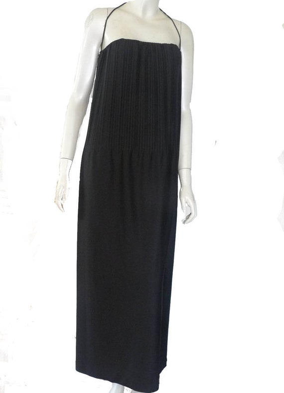Ruffinwear dress Clovis Ruffin 1970s black Maxi 10