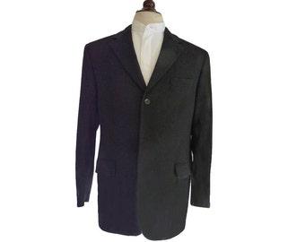 Cashmere blazer black Barneys NY 42 R Three 3 button Jacket