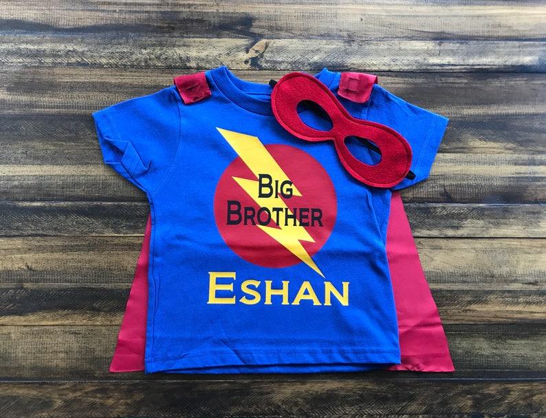 Big Brother Superhero Shirt Boys Personalized Superhero image 0