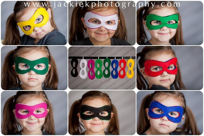 Custom Superhero Mask Reversible Super Hero Mask Choose any image 0