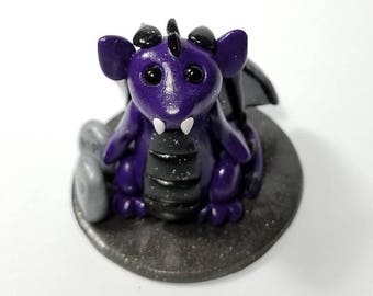 Baby Vampire Bat Miniature Dragon- 2-inch sculpture, polymer clay, handmade, halloween