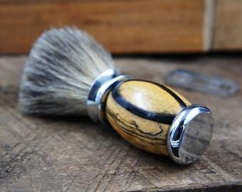 Shaving Brush gift for him perfect for any shaving soap hardwood handle badger brush
