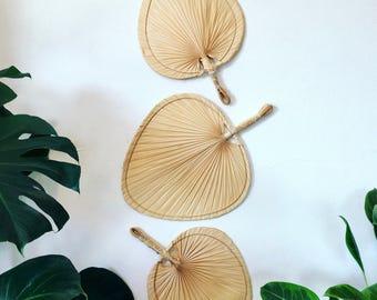 Vintage palm frond fans