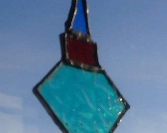 Hand made stained glass Christmas decoration