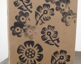 Gärtner aufzeichnen Buch, Block gedruckt Notizbuch / Skizze Buch die Blumen - A6 Normalpapier, Eco-freundlich