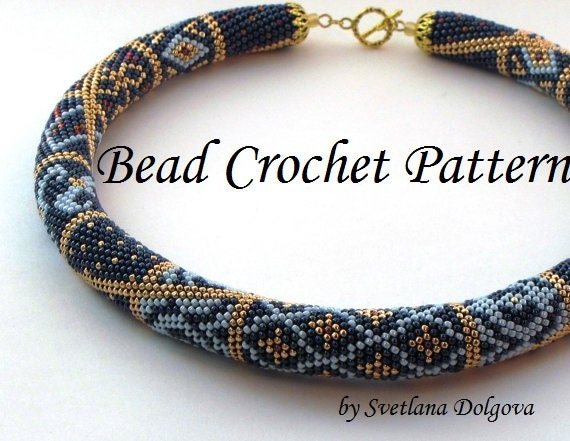 Pattern For Bead Crochet Necklace Etsy