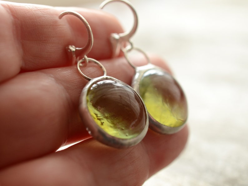 spring jewelry daughter gift Dangle Bubble Drops Glass Earrings