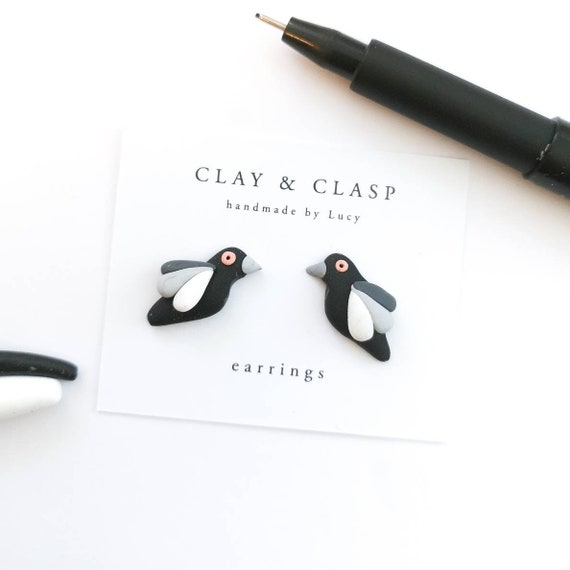 Magpie earrings