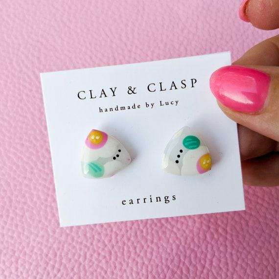 Abstract stud earrings