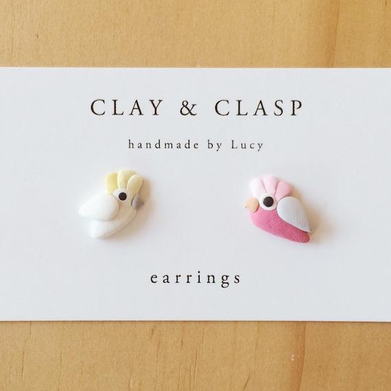 Cockatoo and Galah earrings