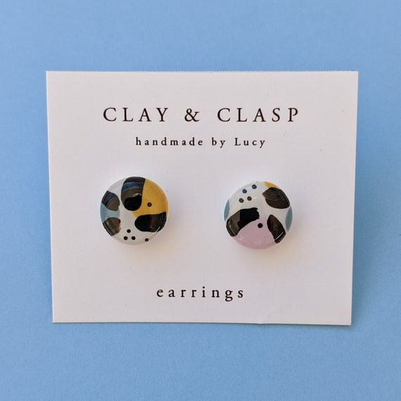 Abstract stud earrings