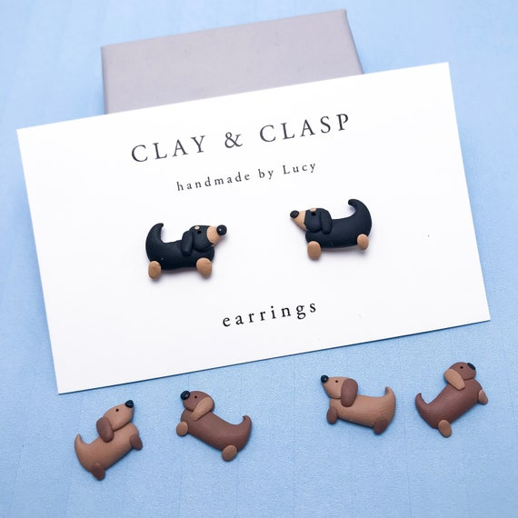 Sausage Dog Dachshund Earrings