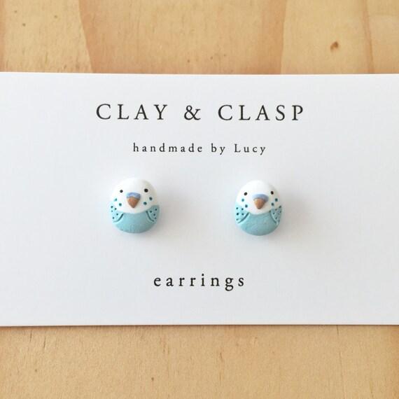 Budgie earrings