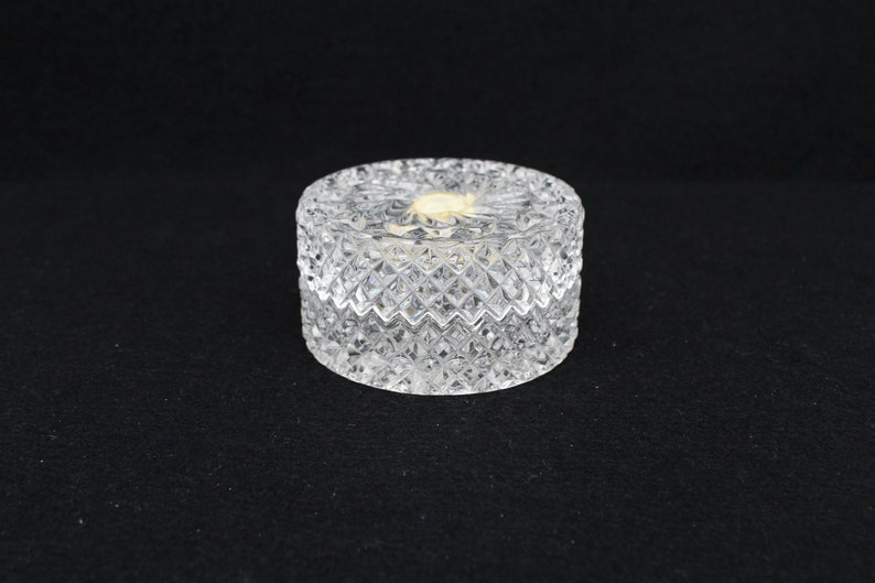 lidded Box glass pin tray Germany Vintage Crystal Glass trays glass butter dish salt dish Phoenix Phonix lead crystal glass trinket box