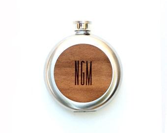 TIMBER Wood Skin 5oz. Round Flask: Free US Shipping