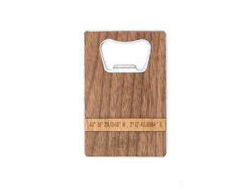 TIMBER Wood Skin Wallet Bottle Opener: Pinpoint Edition Free US Shipping