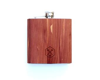 TIMBER Wood Skin 6oz. Flask: Free US Shipping