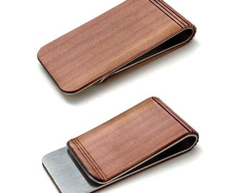 TIMBER Wood Skin Money Clip : Free US Shipping