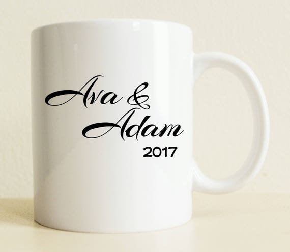 Couple Mug Unique Wedding Gift Custom Bride Gift Wedding Etsy