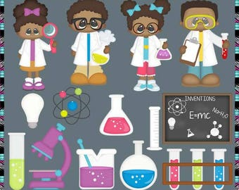 Science lab clipart | Etsy