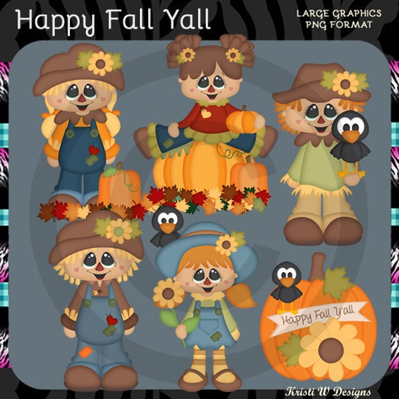 12 Scarecrow Kids Party Favors Autumn Fall Large Stickers