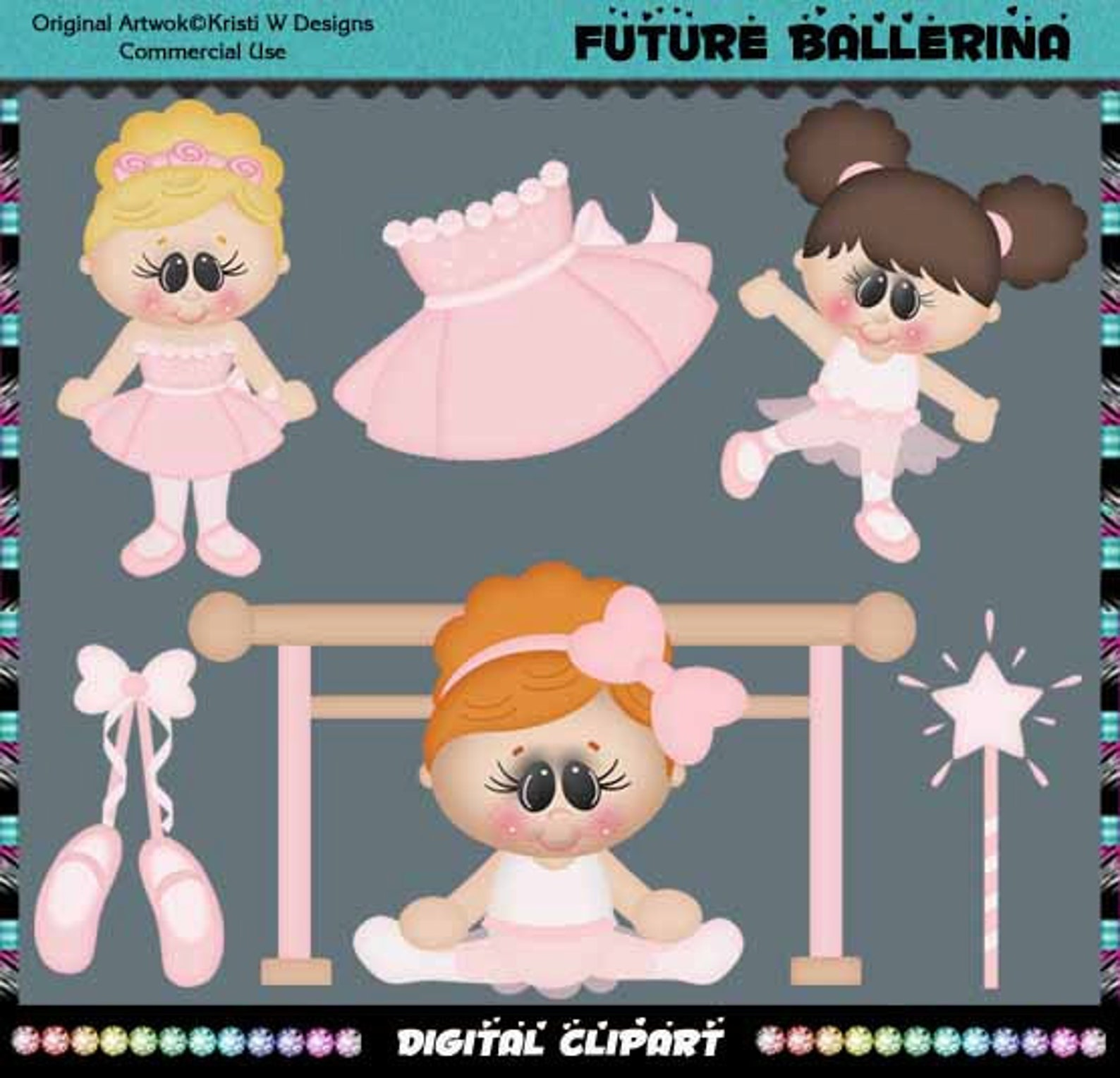 future ballerina, ballet, dancer, dance, when i grow up collection - instant download - commercial use digital clipart elements