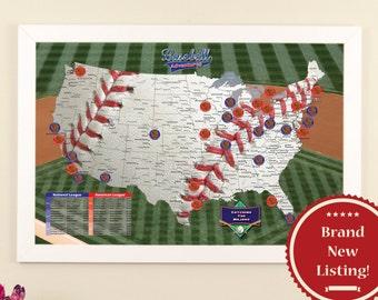 baseball adventures travel map ballpark tracking map baseball map baseball stadium map