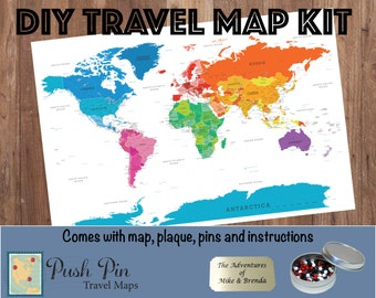 Track Your Travels Etsy - World map track your travels