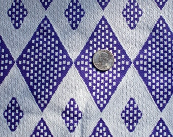 Vintage purple and white knit fabric