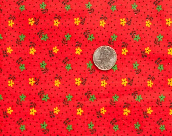 Vintage calico cotton fabric