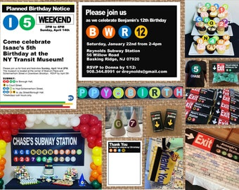SUBWAY + NYC + METRO + TRAiN + MetroCard + Transportation + Uptown // Birthday + Baby + Bridal Shower + Graduation + Wedding + Mitzvah