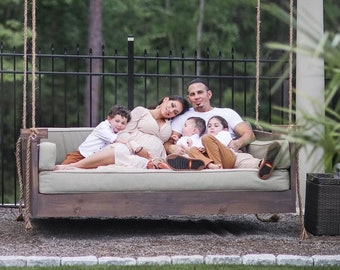 """Ridgidbuilt """"Mission  Style"""" Bed Swing  , Daybed swing , Swing bed , Patio swing bed-- All Beds Comes Fully Assembled !"""