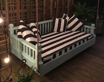 """Twin size New Orleans Step Down  """" Ridgidbuilt custom daybed swing,  Feel free to text or call with questions 256-463-9629"""