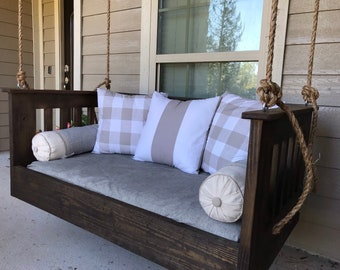 Ridgidbuilt Custom built Mission Style Daybed swing , Questions..? feel free to text or call 256-463-9629