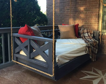 """New Orleans Criss Cross Twin Size Bed Swing ,  hand crafted in USA. """"Save 10% by pinning 3 items from my shop to your Pinterest ."""""""