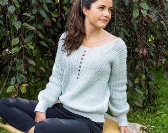 Blueberry Hill | crochet sweater PATTERN by Mëlie