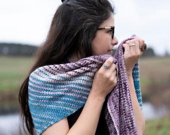 Garden | Crochet shawl pattern by Mëlie